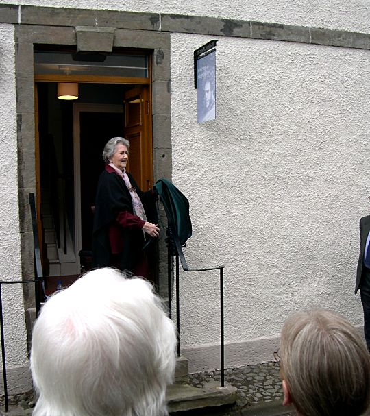 Unveiling of the sign at Miller House