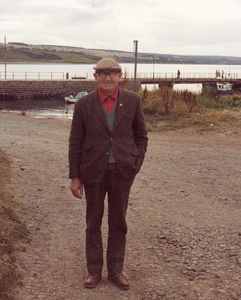 Dan Reid by the harbour - 1981
