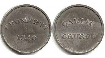 Gaelic Church Communion Token