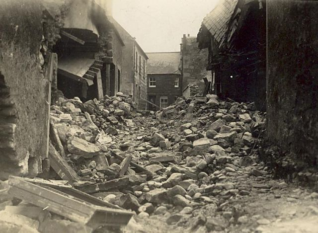 Devastation in Oswald Lane - 1940