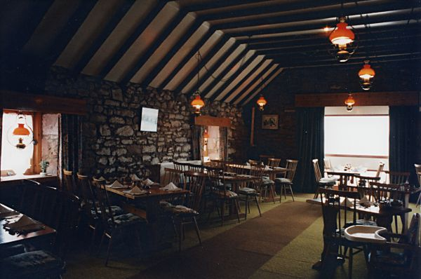 Interior of the Byre resaurant - c1996