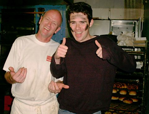 Dave the baker and Greig Thompson - 2004