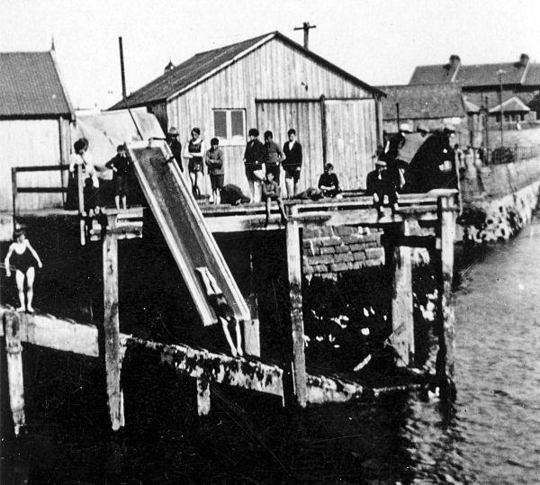 Children swimming in the Harbour - c1930??