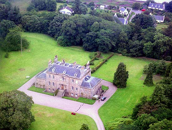 Aerial view of Cromarty House