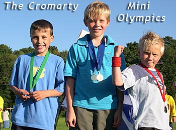 Medal Winners at the Cromarty Mini Olympic Games