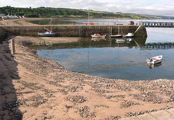 Newly dredged harbour at low tide