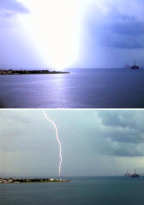 Lightning over Cromarty