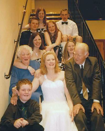 The Hoggs at Kirsten's Wedding - 2004