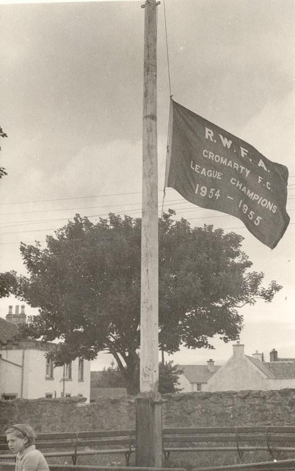 League Flag at Victoria Park - 1955
