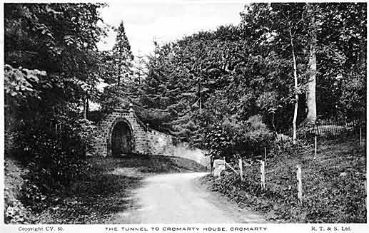 The tunnel to Cromarty House
