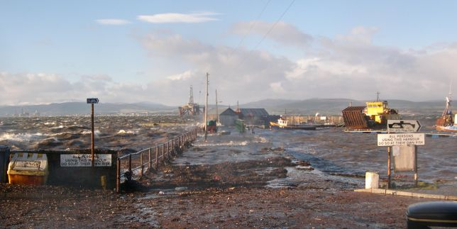 Harbour in Storm at High Tide - 2005