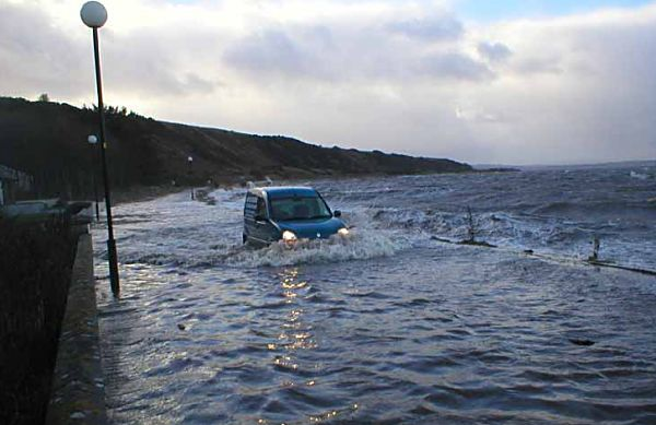 Half Submerged Van